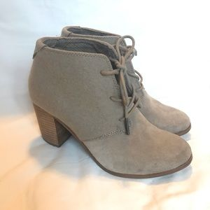 Toms Suede and Wool Booties